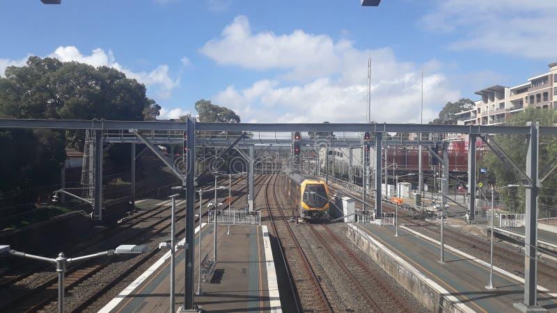 Serviço do trem de Sydney, Austrália imagem de stock