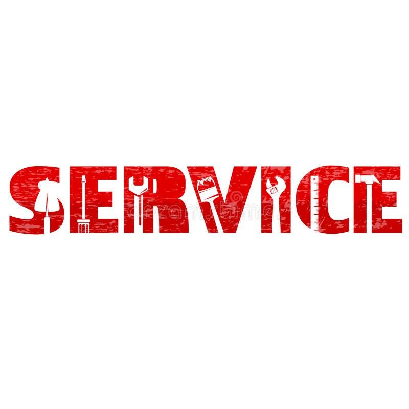 Serviço e vetor da manutenção ilustração royalty free