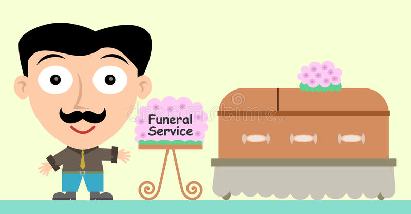 Serviço fúnebre ilustração royalty free