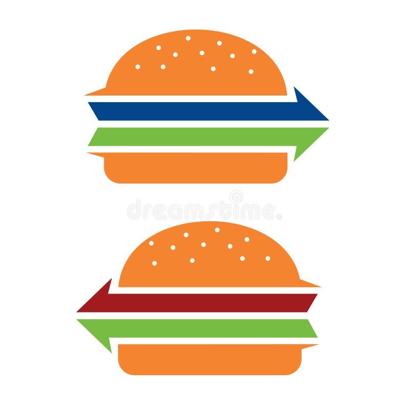 Serviço Logo Icon da ordem de entrega do fast food do hamburguer ilustração do vetor