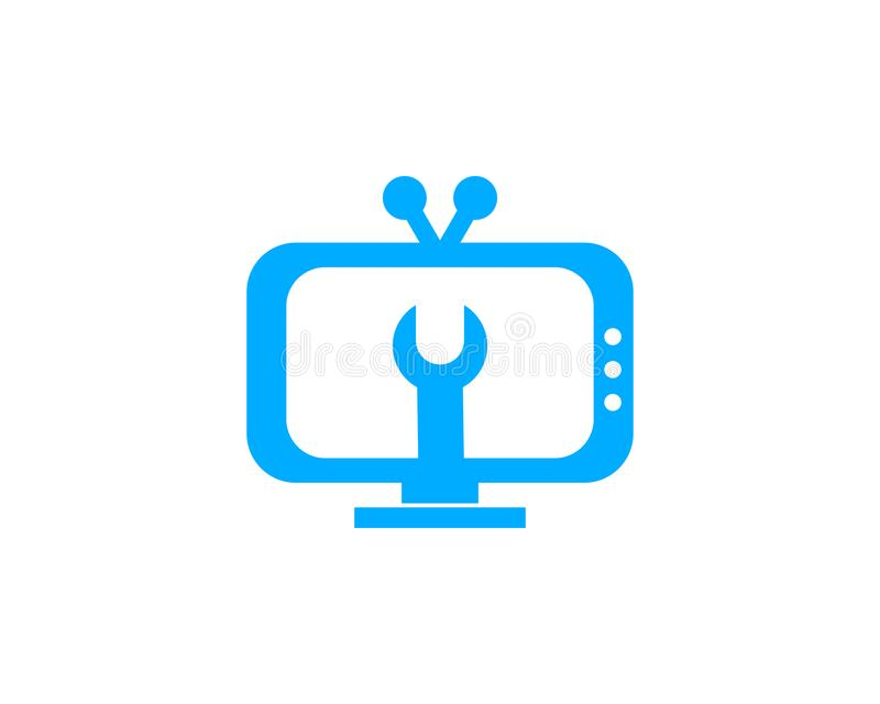 Serviço Logo Template Design Vetora da tevê ilustração stock