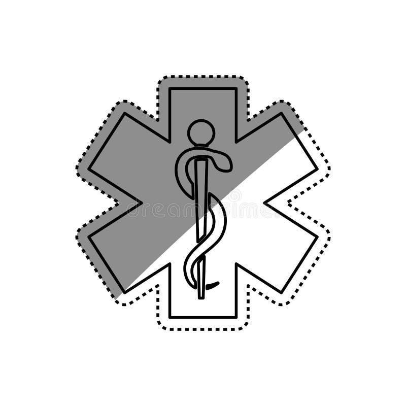 Serviço médico dos cuidados médicos ilustração do vetor