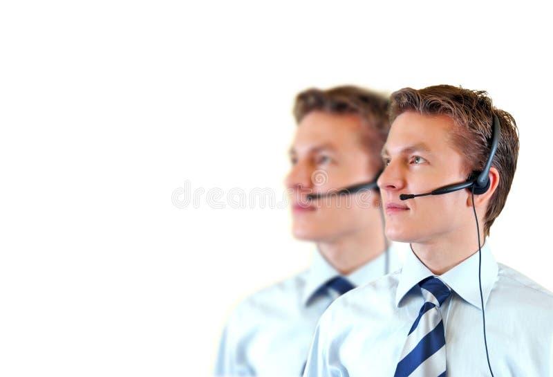 Serviço masculino do apoio a o cliente imagens de stock royalty free