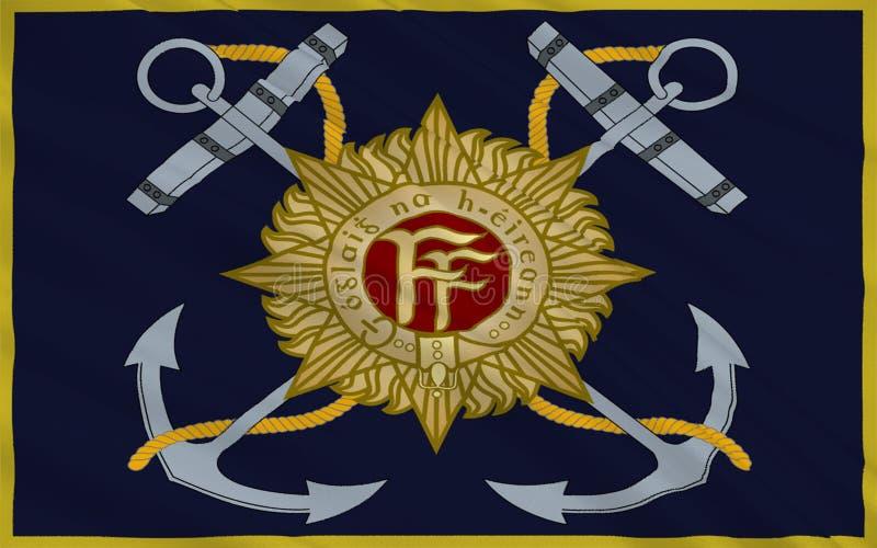 Serviço naval irlandês da bandeira ilustração royalty free