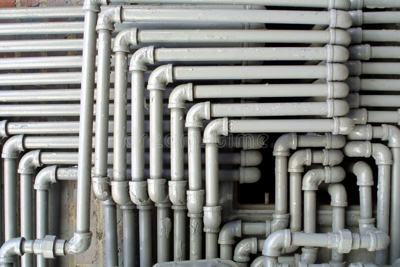 Serviço público da tubulação de água foto de stock royalty free