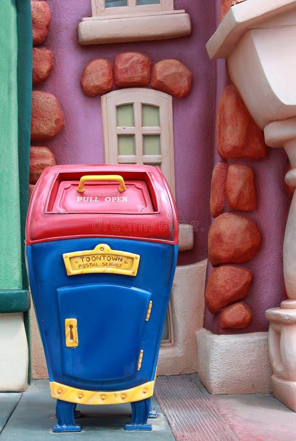 Serviço postal de Toontown em Disneylâandia fotografia de stock