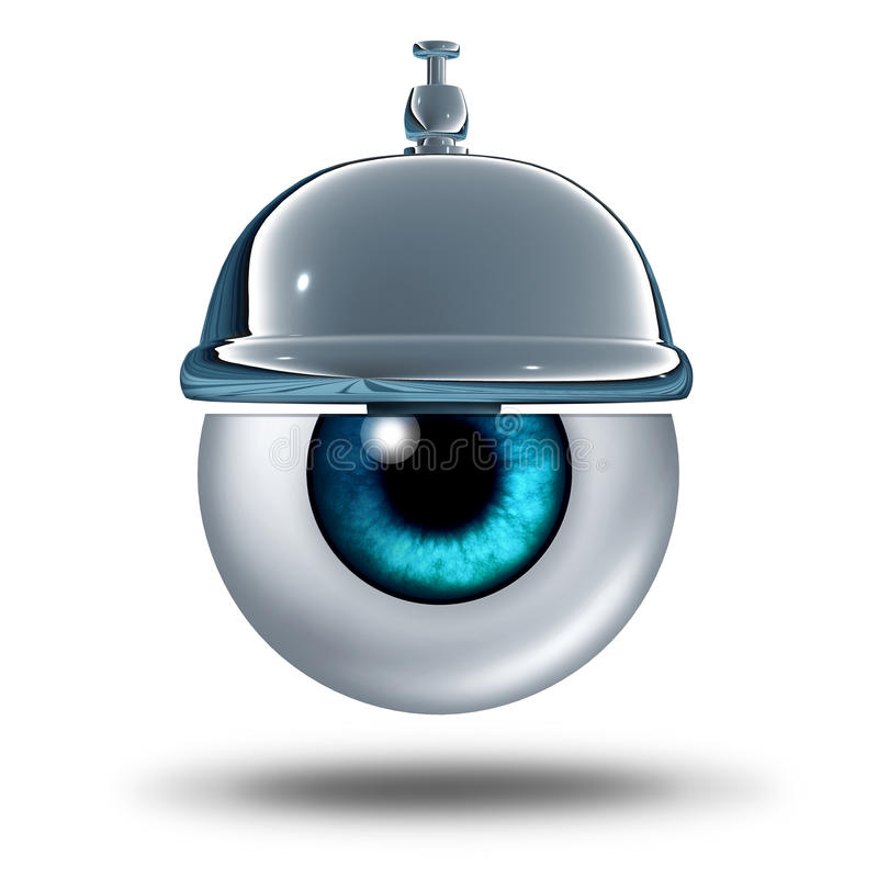 Serviço sanitário do olho ilustração royalty free