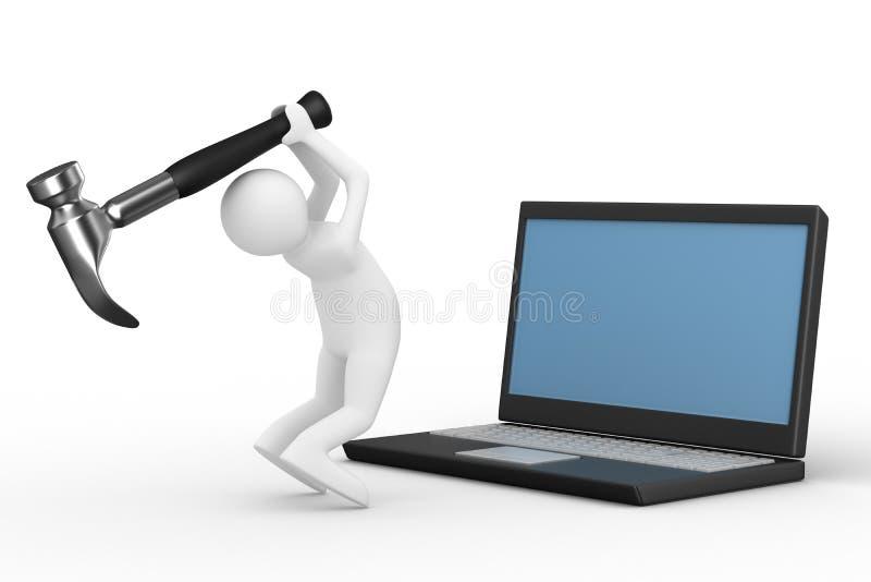 Serviço técnico do computador ilustração stock