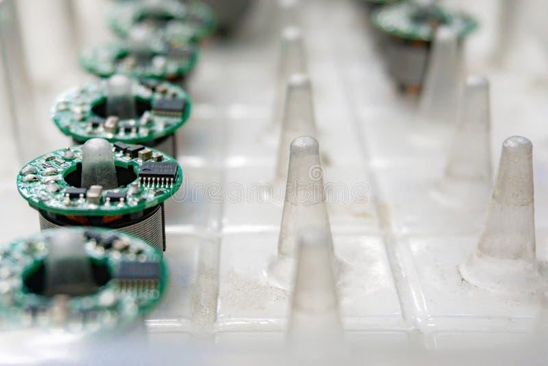 Serviços da fabricação da eletrônica, conjunto da placa de circuito AR foto de stock