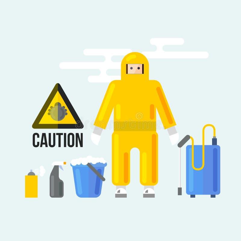 Serviços da limpeza química ilustração stock