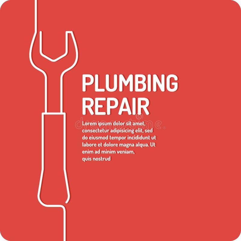 Serviços de design do cartaz para a manutenção de construção ilustração do vetor