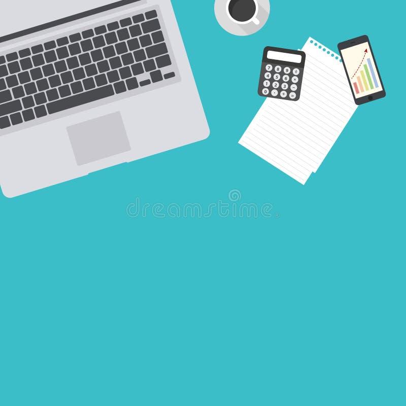 Serviços de empresa, analítica e estudos de mercado financeiros, processo da organização de escritório, contabilidade da empresa  ilustração stock