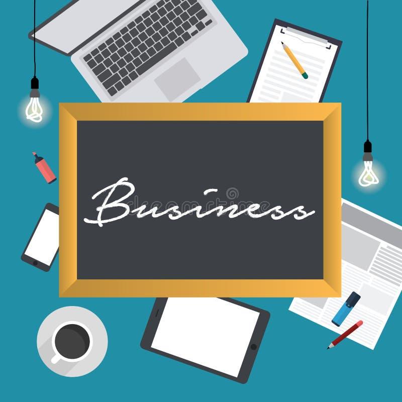 Serviços de empresa, analítica e estudos de mercado financeiros, processo da organização de escritório, contabilidade da empresa  ilustração royalty free