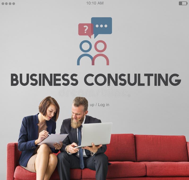 Serviços de peritos da consultoria empresarial do auxílio fotos de stock royalty free