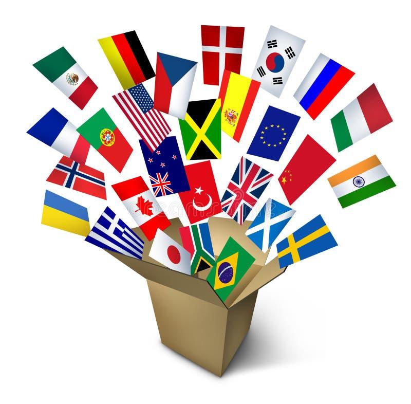 Serviços de transporte globais ilustração royalty free