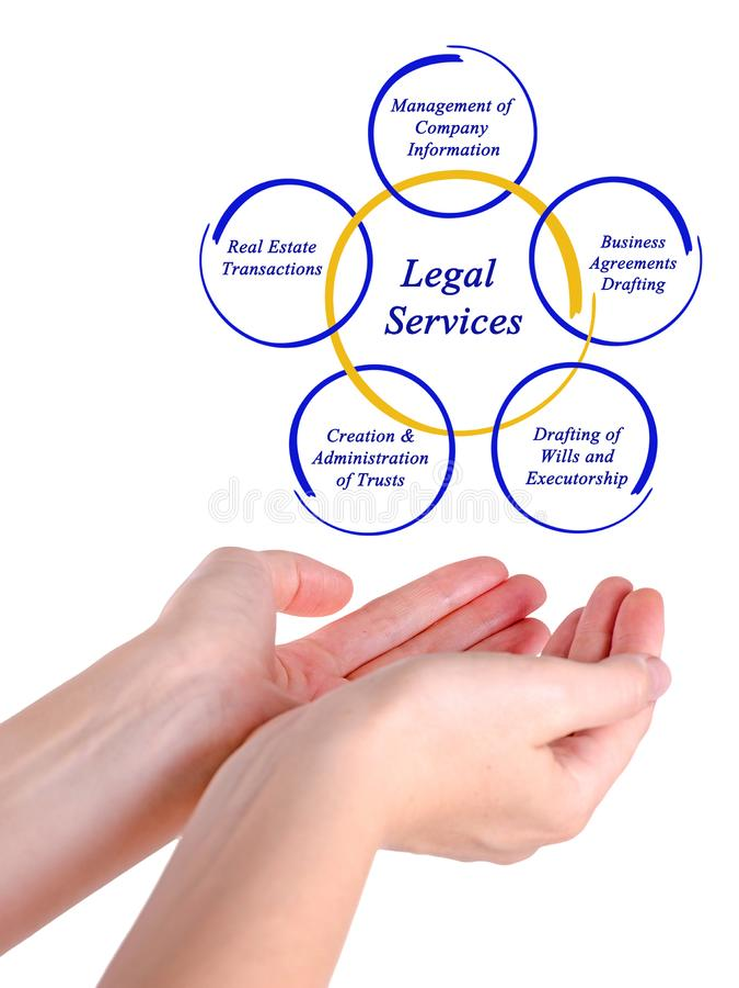 Serviços jurídicos imagem de stock royalty free