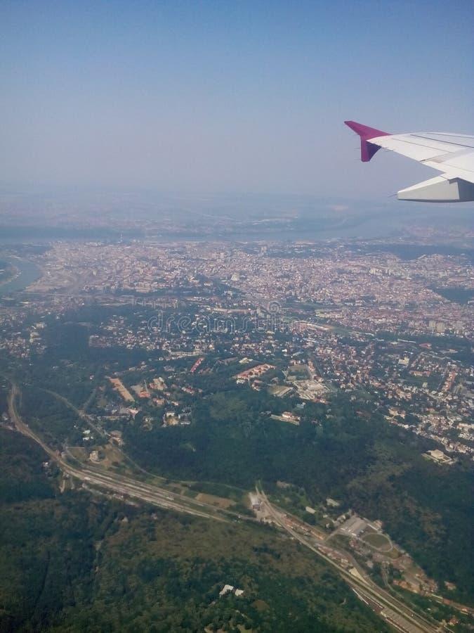 Servië in lucht royalty-vrije stock afbeelding