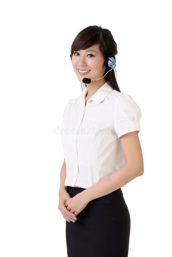 Service à la clientèle asiatique image stock