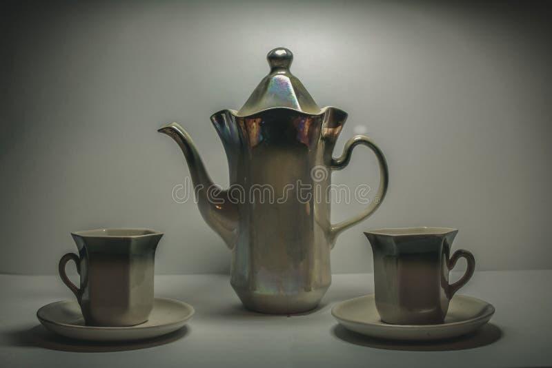 Service à thé image stock