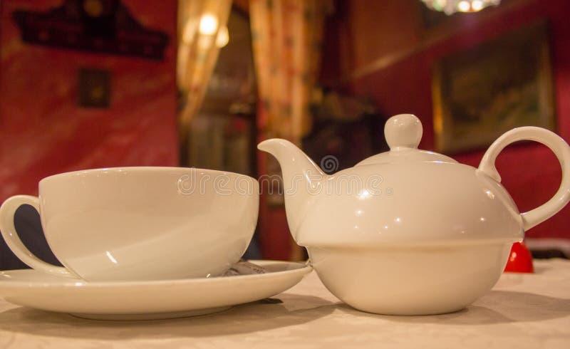 Service à thé anglais photographie stock libre de droits