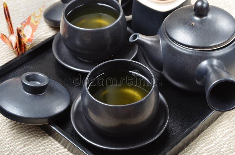 service th de style japonais image stock image du. Black Bedroom Furniture Sets. Home Design Ideas