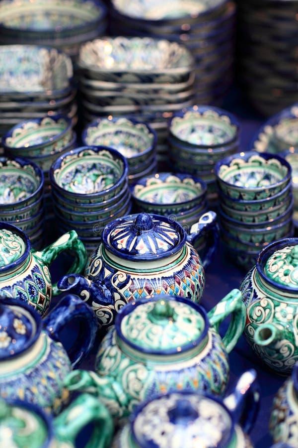Service à thé en céramique photos stock