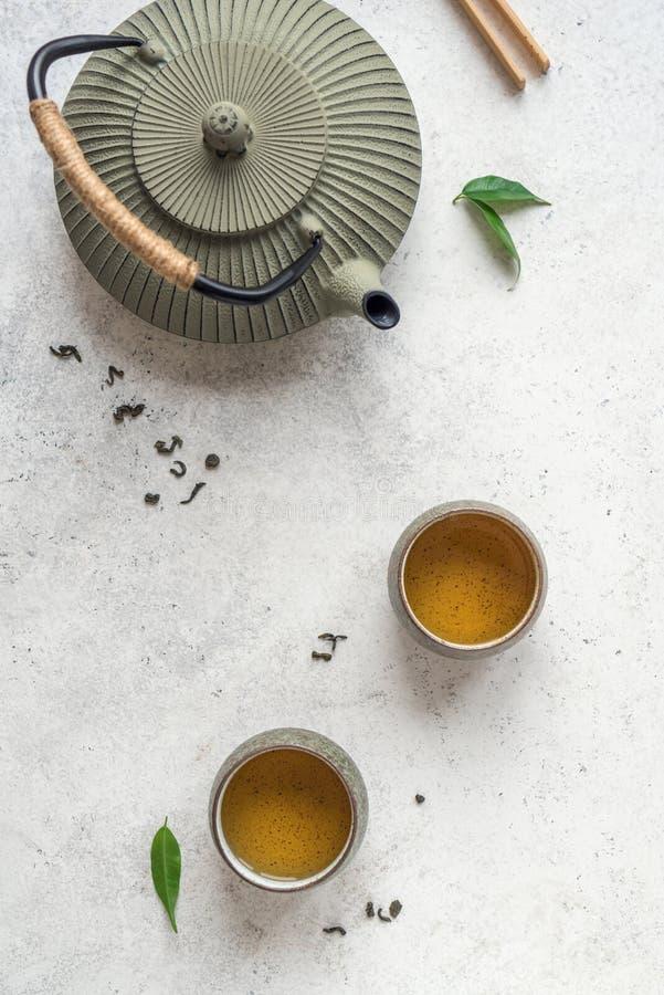 Service à thé traditionnel images libres de droits