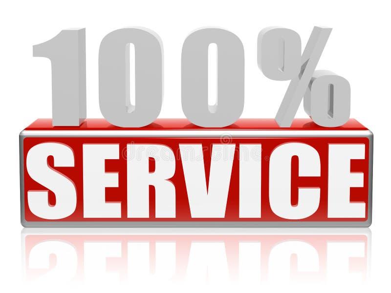 service 100 vektor illustrationer