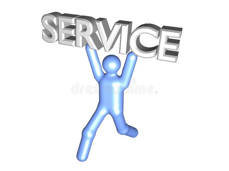 Service 3D stock illustration