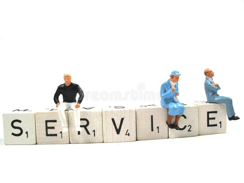 service royaltyfri bild
