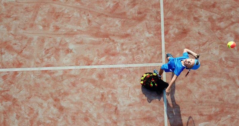 Service aérien de tennis image libre de droits