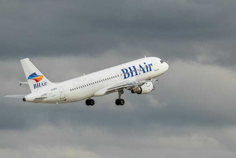 Service-air balkanique de vacances - le BH aèrent images stock