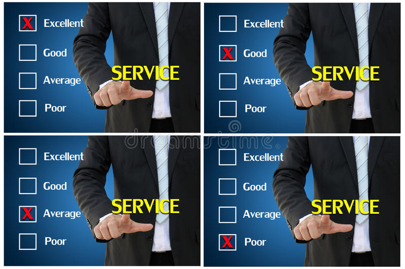 Service assessment for performance evaluation and analysis concept royalty free stock photo