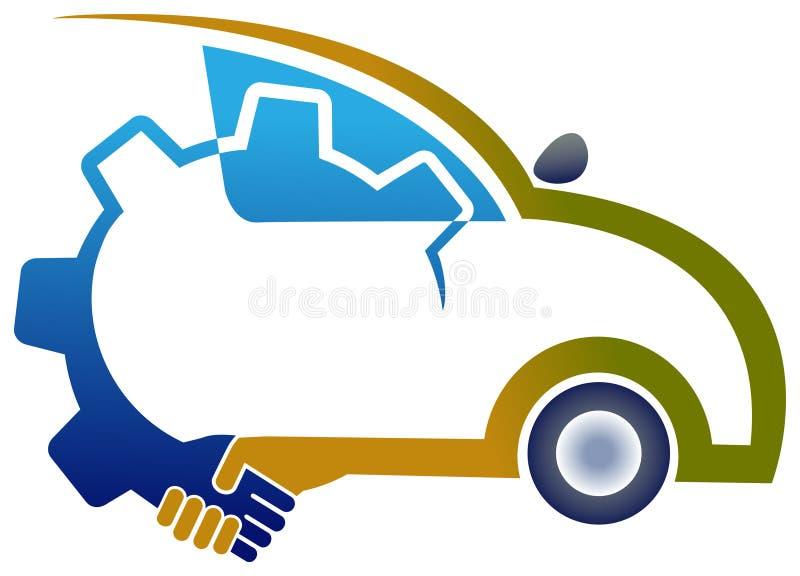 Service association. Illustrated vehicle association concept design stock illustration