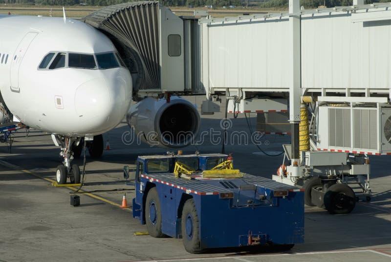 Service au sol d'avion image libre de droits