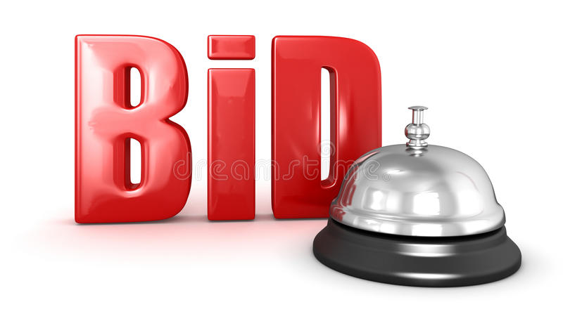 Service bell and BID royalty free illustration