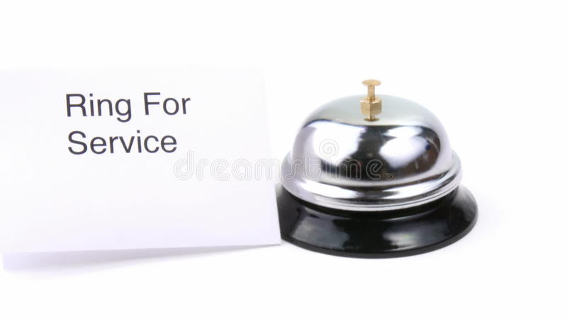 Service bell and human hand ringing footage