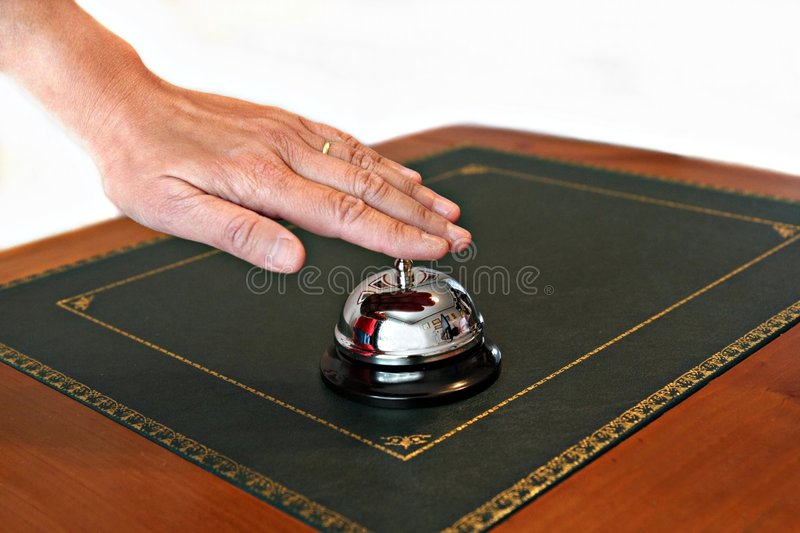Download Service Bell On Reception Desk Stock Photo - Image: 6616842