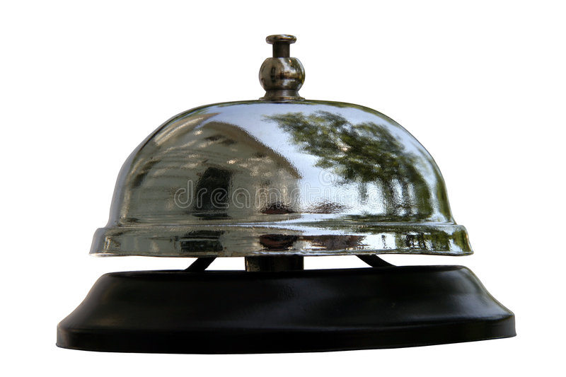Service Bell Reflections stock photography