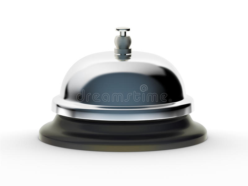 Download Service Bell On White Background Stock Image - Image: 9860259