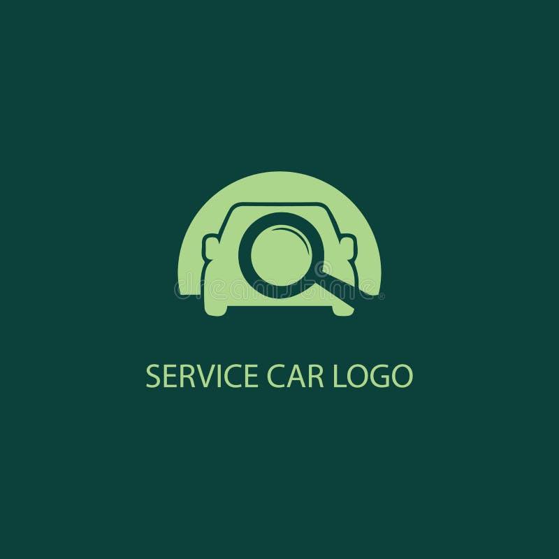 Service car icon logo. Symbol icon design stock illustration