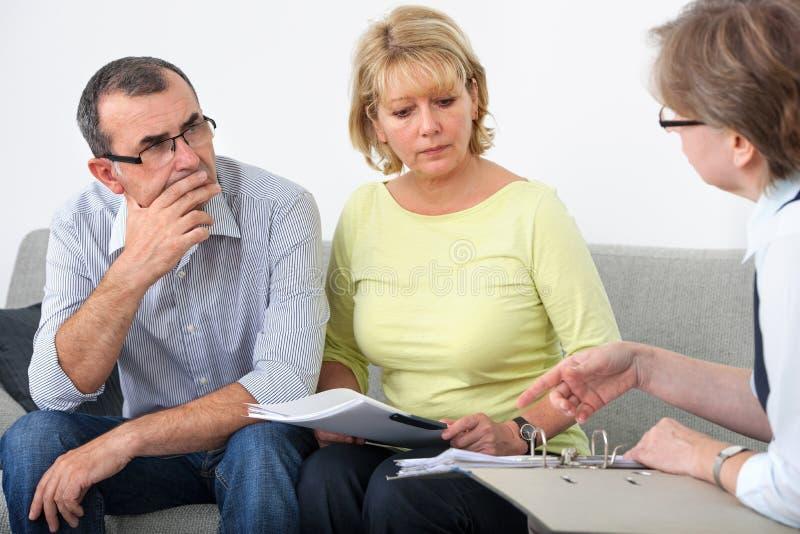 Service consultatif pour des débiteurs image libre de droits