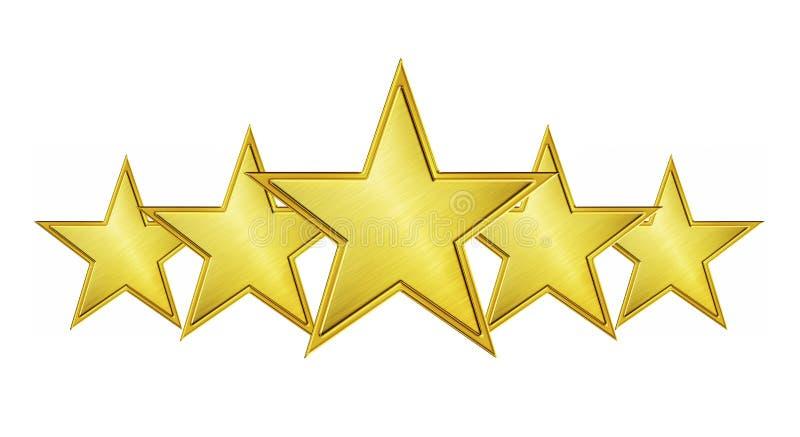 Service de cinq étoiles illustration stock