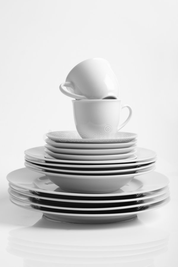 Service de dîner photos stock