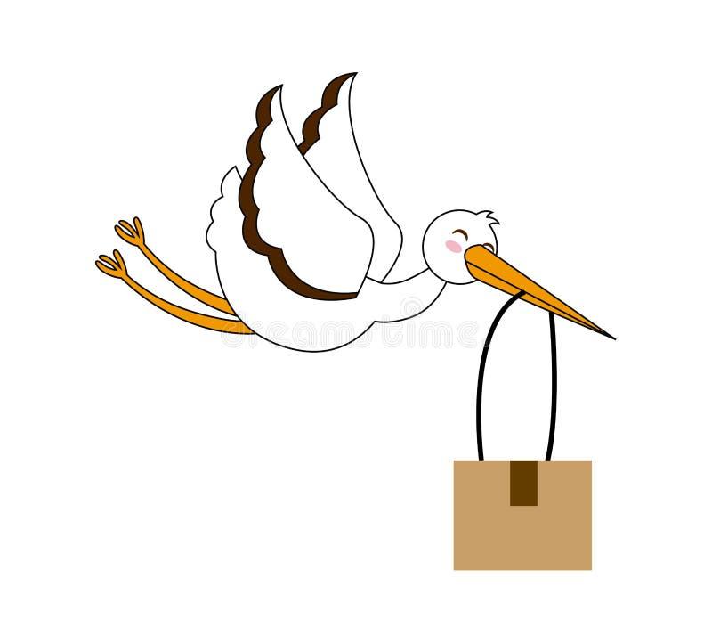 Service de distribution illustration libre de droits