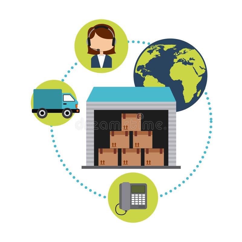 Service de distribution illustration stock