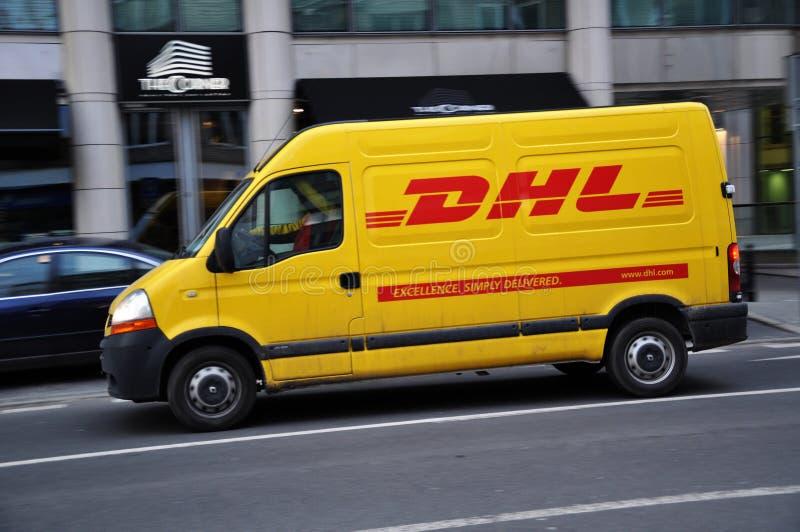 Service de distribution de courier de DHL photo stock