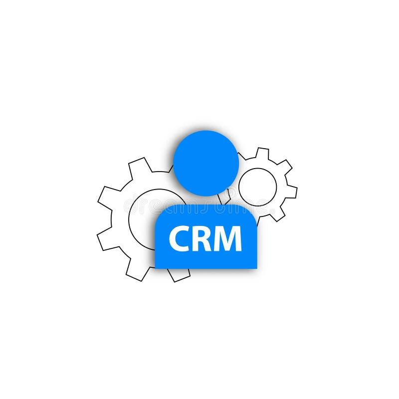 Service de méthode de client d'icône de Crm illustration de vecteur