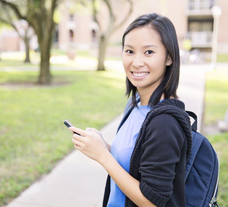 Service de mini-messages d'étudiant photos libres de droits