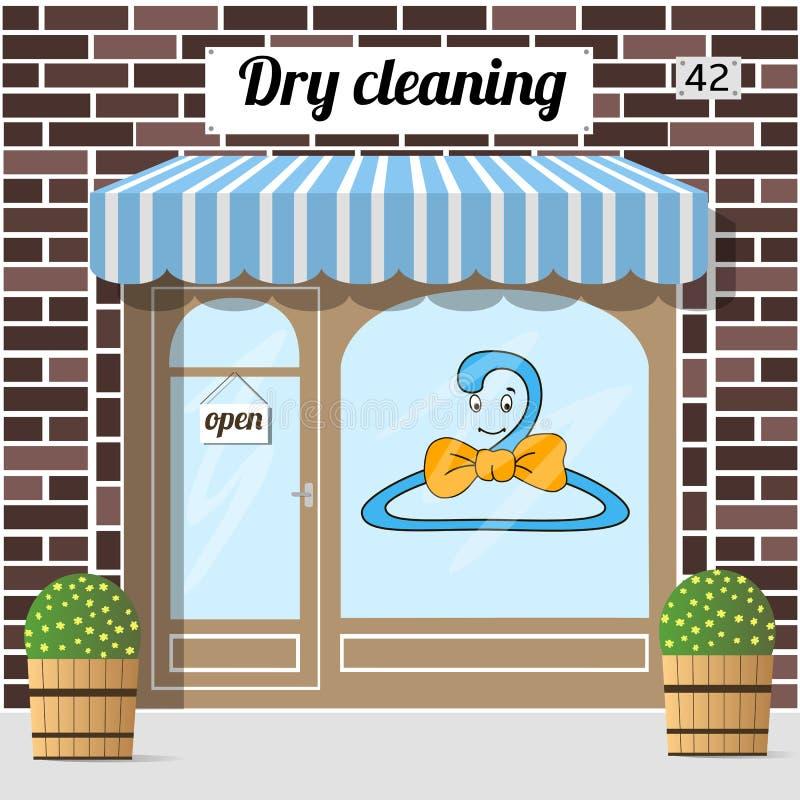 Service de nettoyage à sec illustration stock